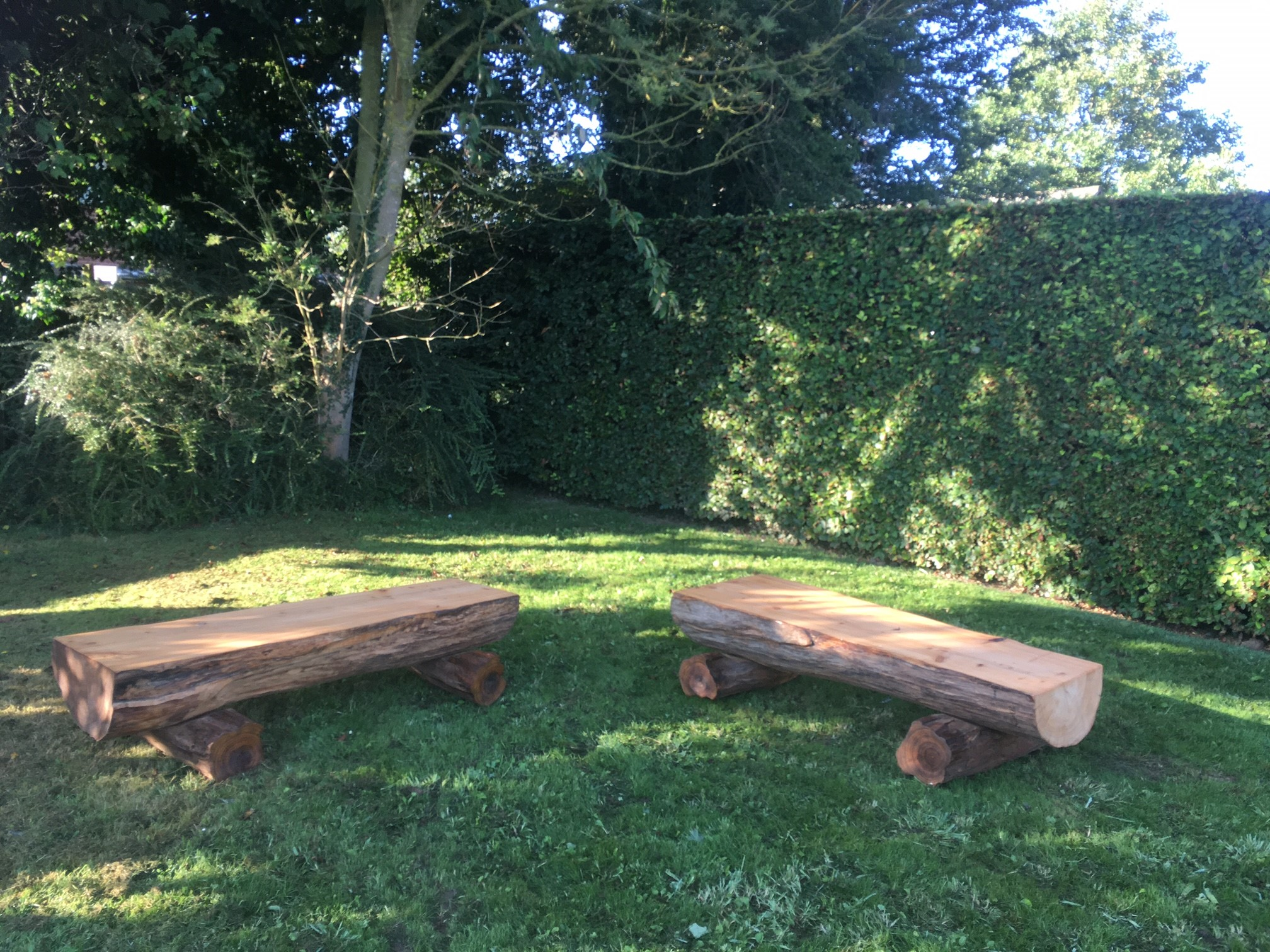 Fallen trees from the farm create natural, sustainable seating – Massive thank you to the talented Pej pejhan_woodwork !
